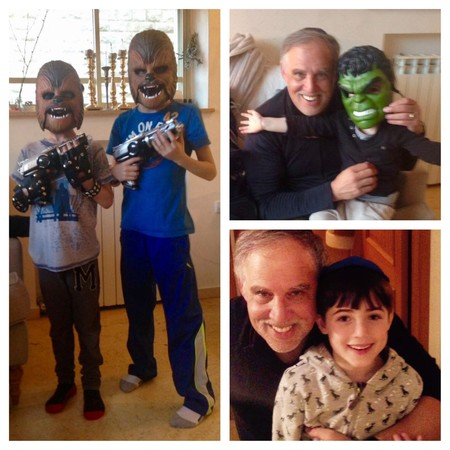 From Israel with Jerry, clockwise from top left: Shaya and Yisroel, Jerry and Alexander, Nadav and Jerry.