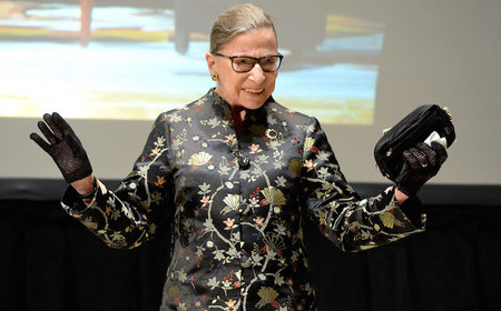 Supreme Court Justice Ruth Bader Ginsburg at the Skirball Center in Manhattan on Sept. 21, 2016.
