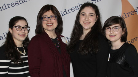 The Frankels of West Hempstead — Sophomore Shira, Mrs. Cindy Frankel, Senior Shayna Laya and incoming freshman Miriam.