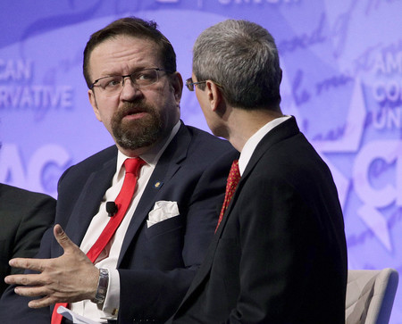 Deputy assistant to President Trump Sebastian Gorka participates in a discussion during the Conservative Political Action Conference at the Gaylord National Resort and Convention Center on Feb. 24, 2017.