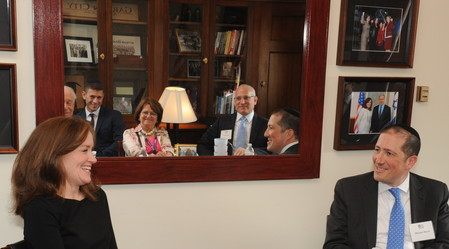 Long Island Rep. Kathleen Rice meets with members of the OU Advocacy Center on Capitol Hill.