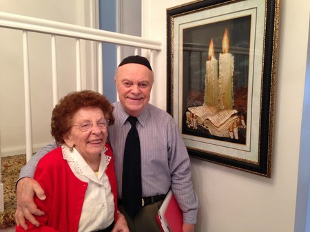 Bonnie and Jack Rybstajn in their Woodmere home in February, 2016, on the occasion of their 70th wedding anniverary.