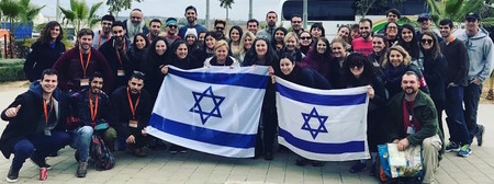 Participants in a recent Birthright Israel trip.
