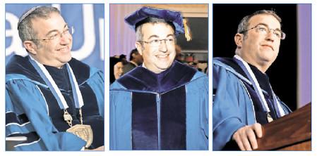 Rabbi Dr. Avi Berman at his investiture of Yeshiva University's fifth president, on Sunday, Sept. 10, 2017.