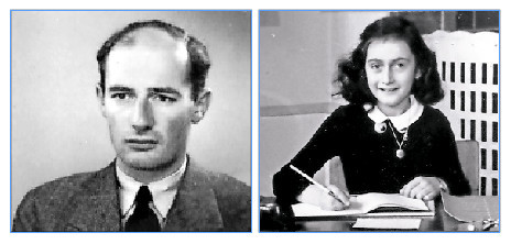 Left: A passport photograph of Raoul Wallenberg taken in Budapest, Hungary, June 1944. Right: Researchers want to know who, if anyone, betrayed Anne Frank and her family to the Nazis.