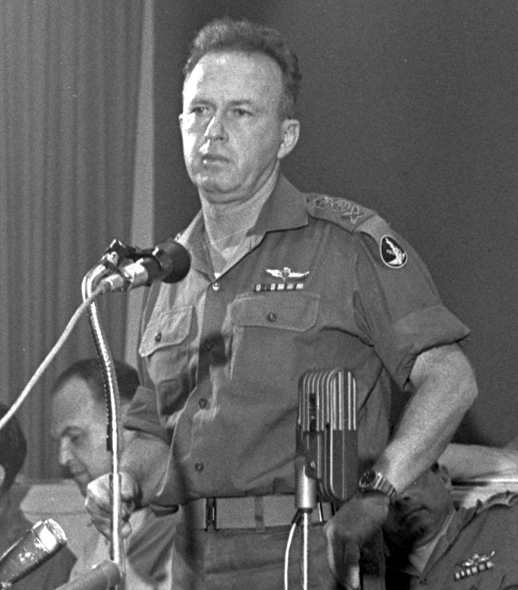 Chief of staff Yitzhak Rabin at a press conference in Tel Aviv on June 7, 1967.