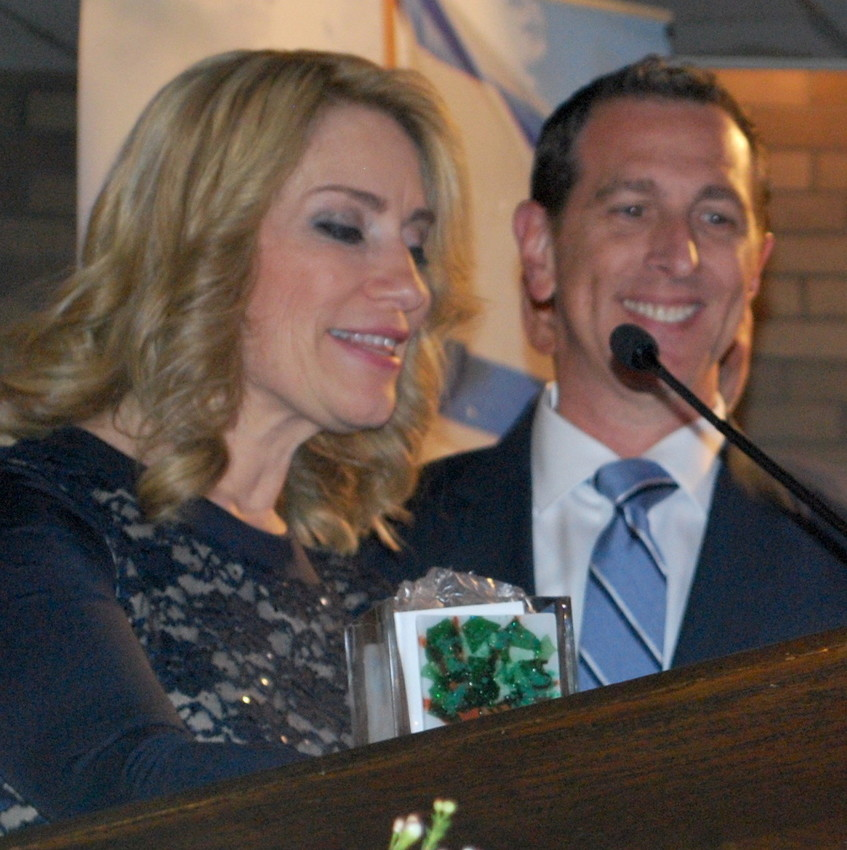 Sharron and Adam Cohen, from Woodmere, received the Friends of Israel Defense Forces Protection Award, at last week's FIDF dinner.