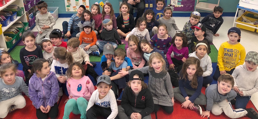Kindergarten students at the Hebrew Academy of the Five Towns and Rockaway, in Lawrence.