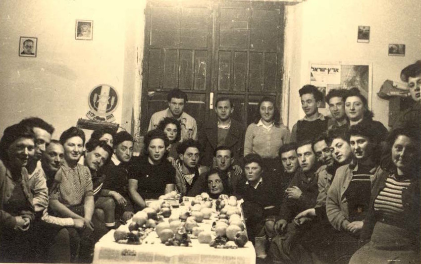 In undated photo from the Yad Vashem Archives, Algerian Jews celebrate Passover.