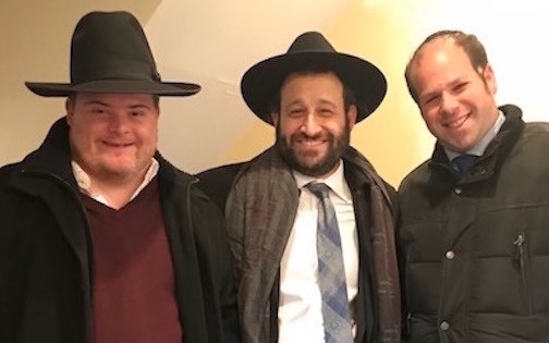 JJ Goldstein, Rabbi Duvie Zeidel, and Jordan Scharf.