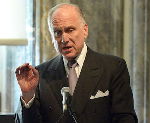 World Jewish Congress President Ronald Lauder.