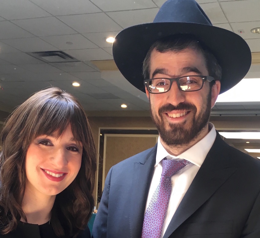 New rav in town: Rabbi and Rebbetzin Bieg-eleisen at the Lido Beach shul.