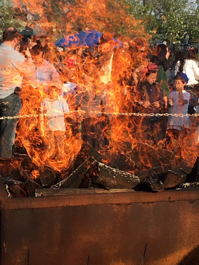 At Andrew J. Parisi Park: Thousands flocked to this Cedarhurst venue, where a blazing bonfire, an acrobatic display, archery, food and more helped pump up the fun.