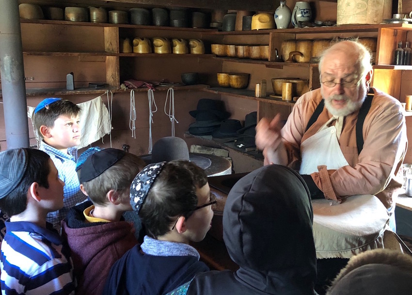 YOSS students at the Old Bethpage Village Restoration.