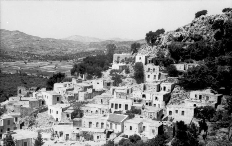 A view of the village of Anno Vianos on the southern coast of Crete, June 6, 1943.