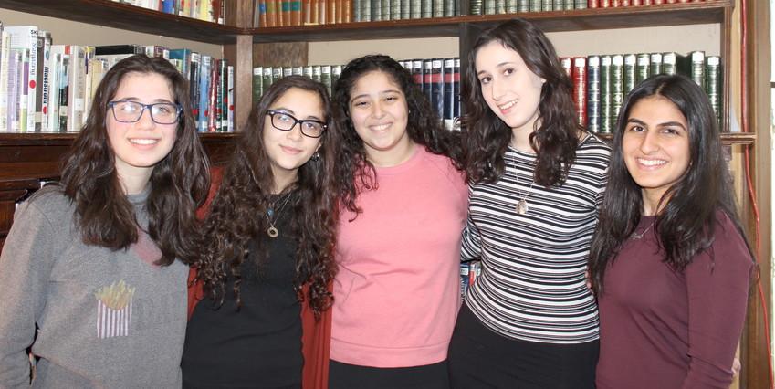 SKA's magical women: Priva Halpert, Meira Steiner, Atara Israel, Kayla Evans and Avigail Razi.