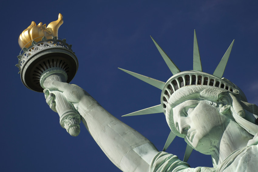 Liberty's torch in New York Harbor