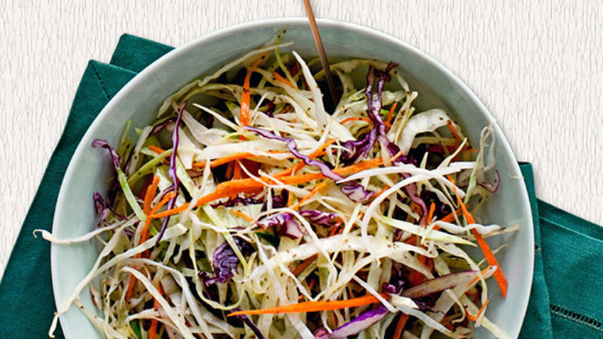 Tri-colored coleslaw