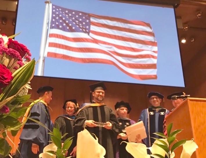 Israeli tech guru Hillel Fuld at Touro's graduate schools' graduation.