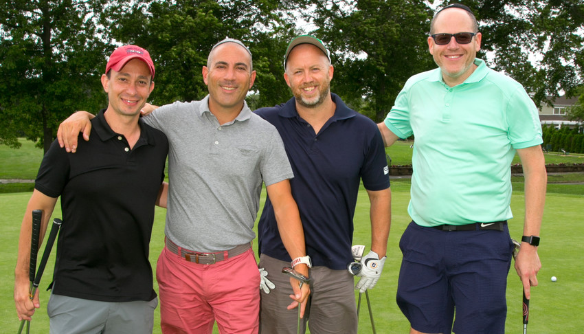 From left: Stuart Mayer, Marc Yehaskel, Solomon Goldwyn and  Gilad Kalter were one of the many foursomes.