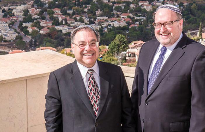 Rabbis Shlomo Riskin and Kenneth Brander.
