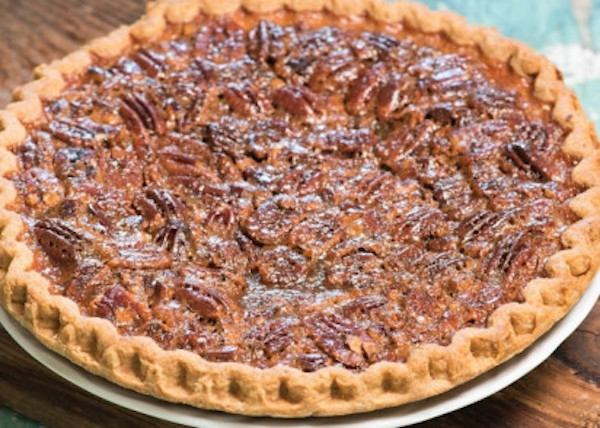 Pecan or chocolate chip praline pie