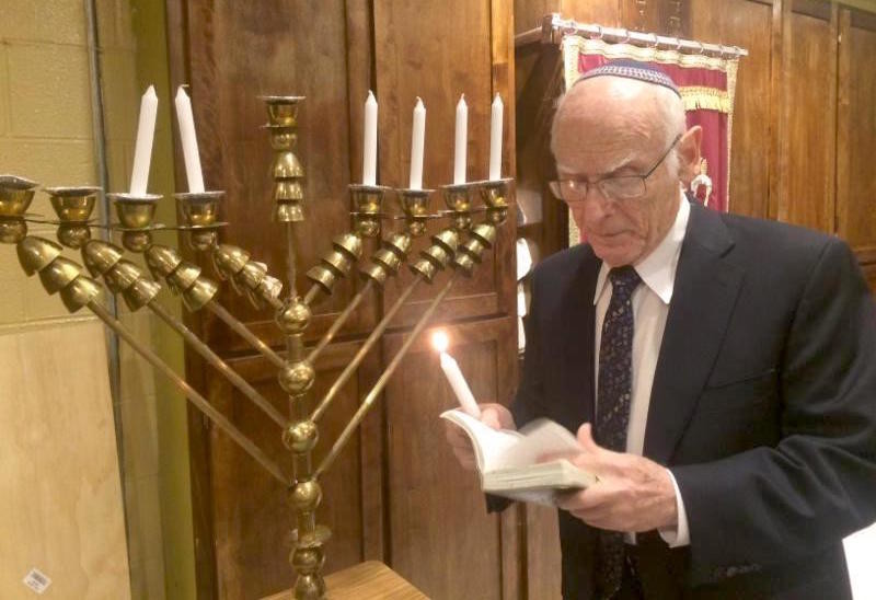 In 2016, Rabbi Moshe Gottesman lit a menorah at HANC that was dedicated in 2003 in his honor.
