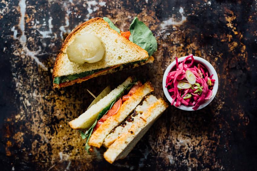 Gefilte fish sandwich