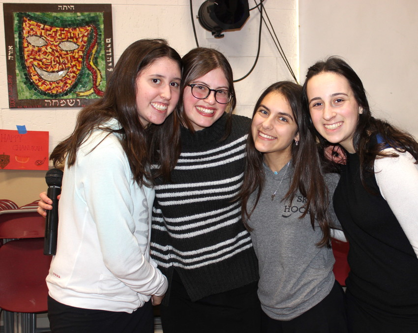 From left: Talia Wein, Devorah Schreier, Tammy Aryeh, Aliza Strauss.