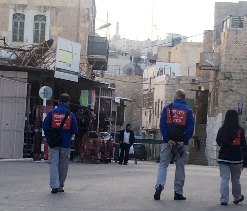 A member of the Temporary International Presence in Hebron in the Jewish district last November.