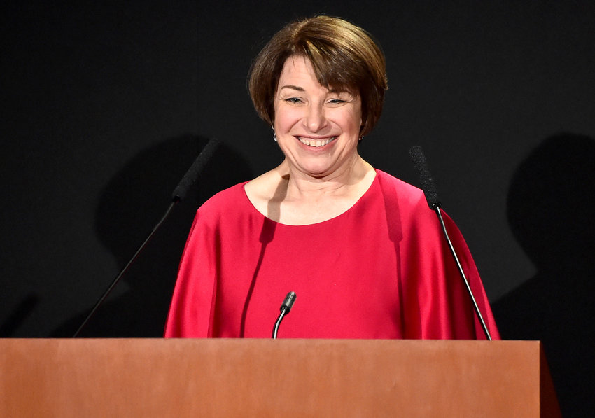 Amy Klobuchar at the 2018 DGA Honors Show in New York on Oct. 18, 2018.