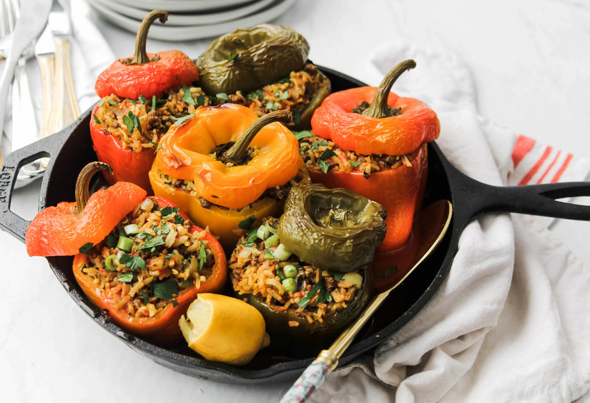 Persian inspired stuffed peppers.