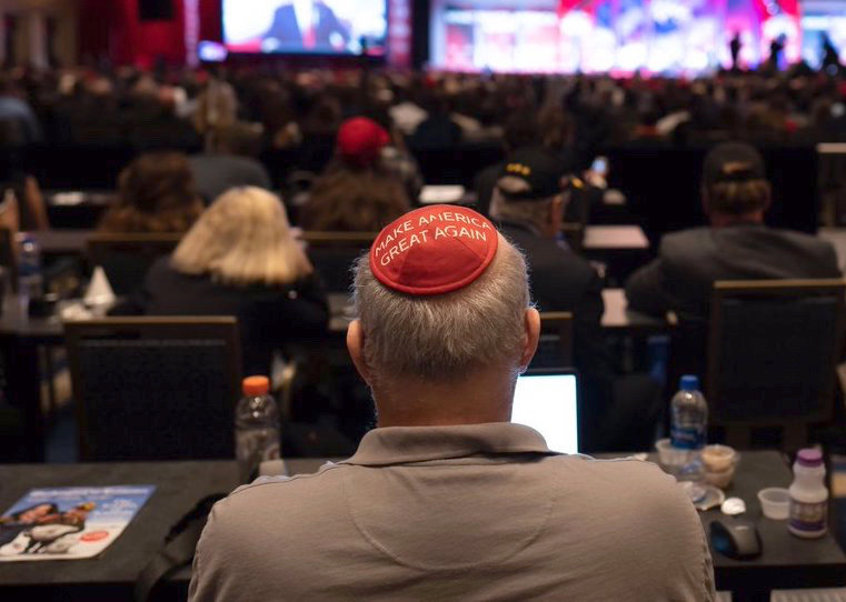 Jewish Star columnist Jeff Dunetz, making America great again at last week's Conservative Political Action Conference in Washington.