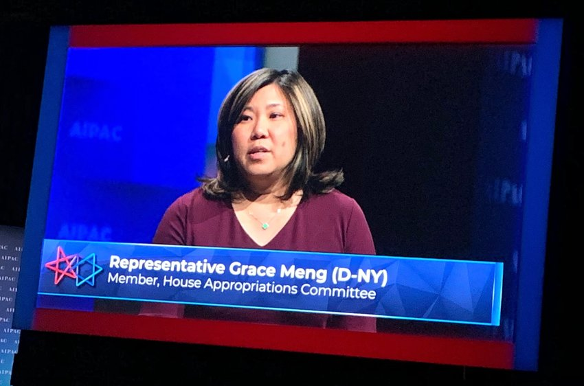 Rep. Grace Meng at the AIPAC Policy Conference in Washington.