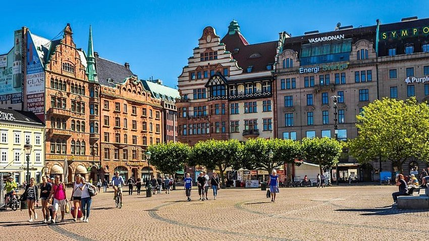 Stortorget in Malmö Sweden.
