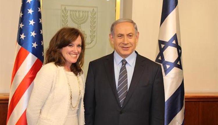 Rep. Kathleen Rice with Israeli Prime Minister Benjamin Netanyahu in 2015.