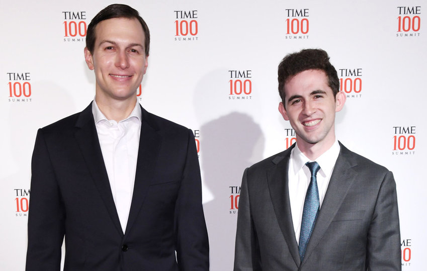 Jared Kushner and Avi Berkowitz at the TIME 100 Summit 2019 on April 23, 2019 in New York.