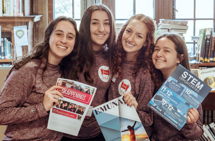 From left: Aliza Strauss of Queens, Sarah Norensberg of Woodmere, Celia Shaoul of Brooklyn, and Emma Spirgel of Woodmere.