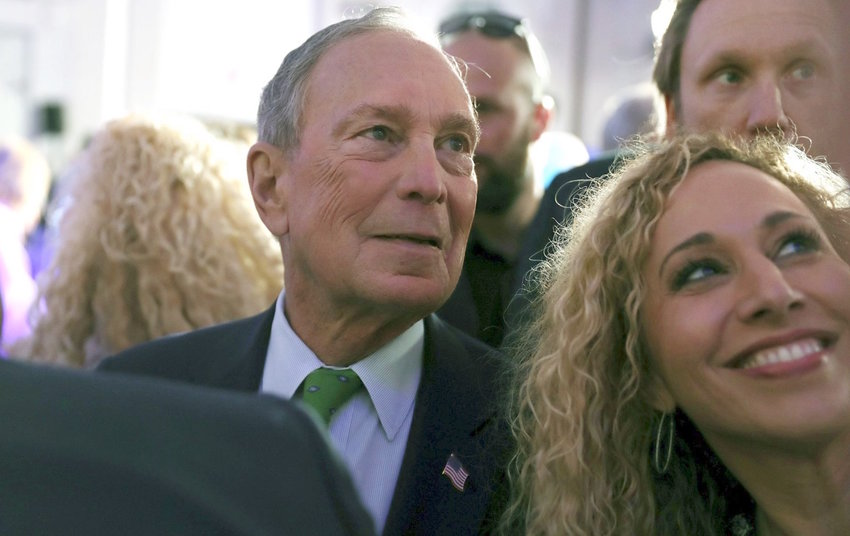 """Former Mayor Mike Bloomberg at a """"United for Mike"""" at a campaign rally in the Aventura, Florida, Jewish Center on Jan. 26."""