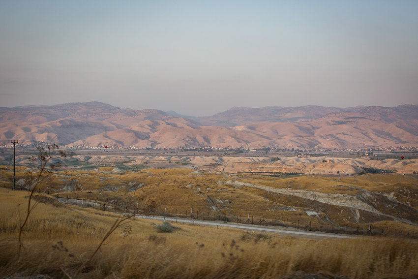 A view of the border between Israel and Jordan on Highway 90 in the Jordan Valley, in 2017.