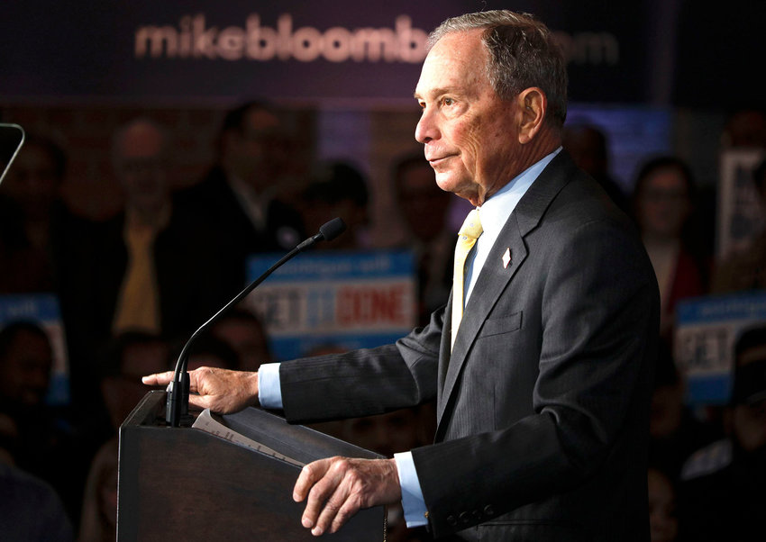 Democratic presidential candidate Mike Bloomberg at a campaign rally on Feb. 4, in Detroit.