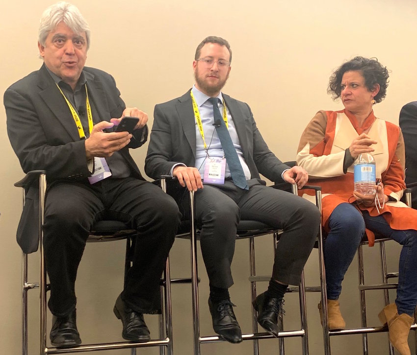 The author, David Suissa (left), participated in a panel at this week's AIPAC Policy Conference in Washington.