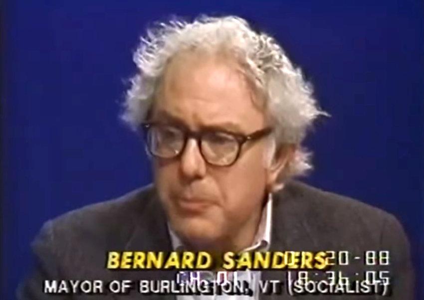 Sen. Bernie Sanders during a C-Span interview when he was mayor of Burlington, Vermont in 1988.