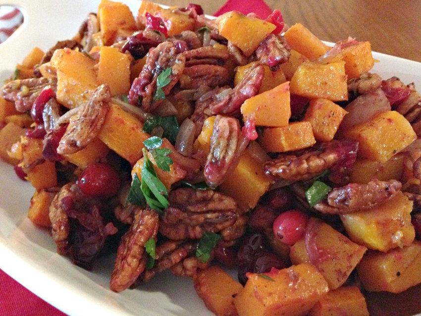 Gingered Sweet Potatoes and Squash