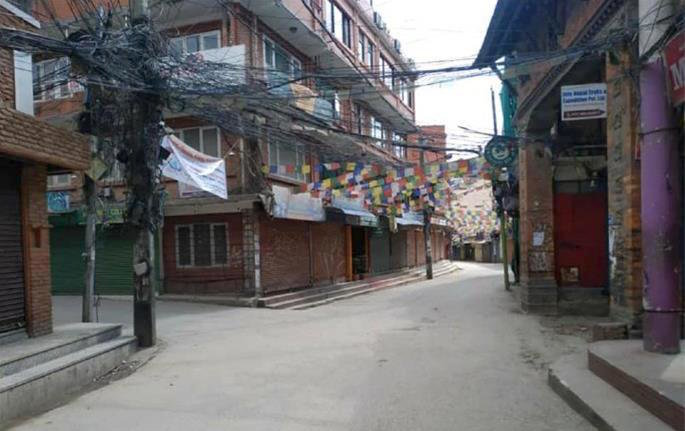 The usually jam-packed streets of Kathmandu lie desolate as Nepal enacted a strict lockdown and curfew.