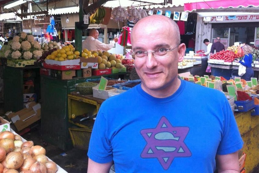 Gil Hovav is pictured at market in Jerusalem.
