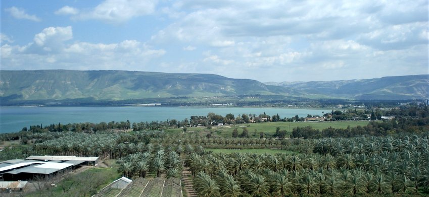 View of the Kinneret from the south.