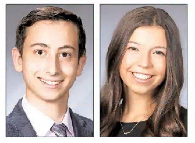 Valedictorian Adam Speiser and Salutatorian Alexandra (Ali) Lenefsky.