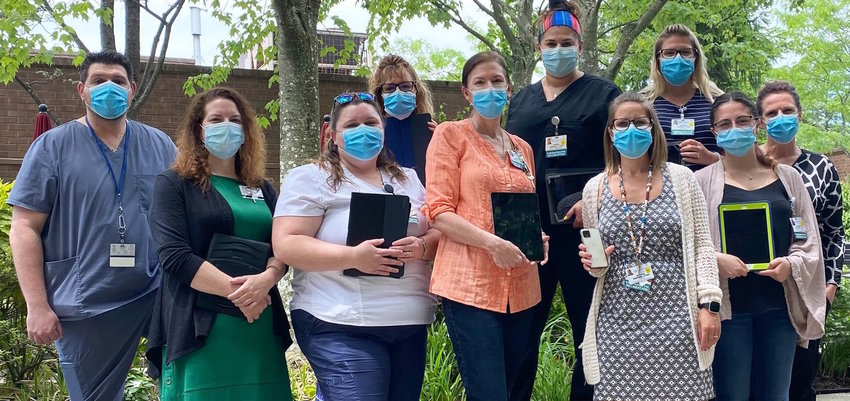 """The Gurwin Gram Gram team facilitated more than 5,300 FaceTime sessions and delivered countless """"Gurwin Gram Gram"""" videos sent in by family members all over the globe. Their efforts have been a lifeline throughout the pandemic, helping residents know they are loved."""