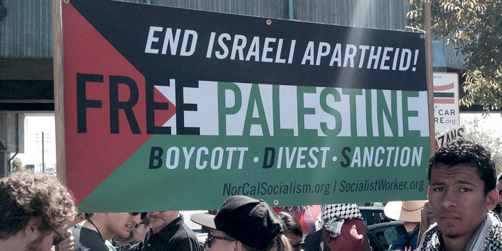 Supporters of the BDS movement against Israel.